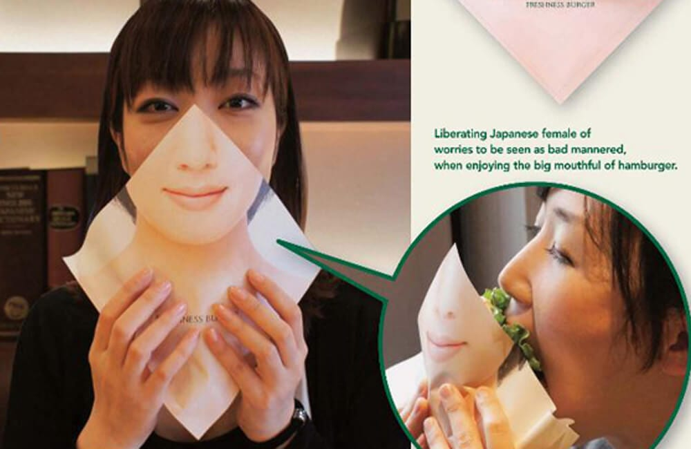 Burger Eating Napkin Shield @Heidi Autio / Facebook.com