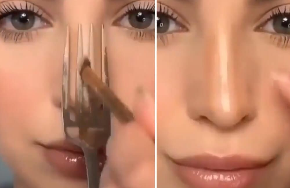 Fork for Perfect Contour @makeuphousehold / Instagram.com