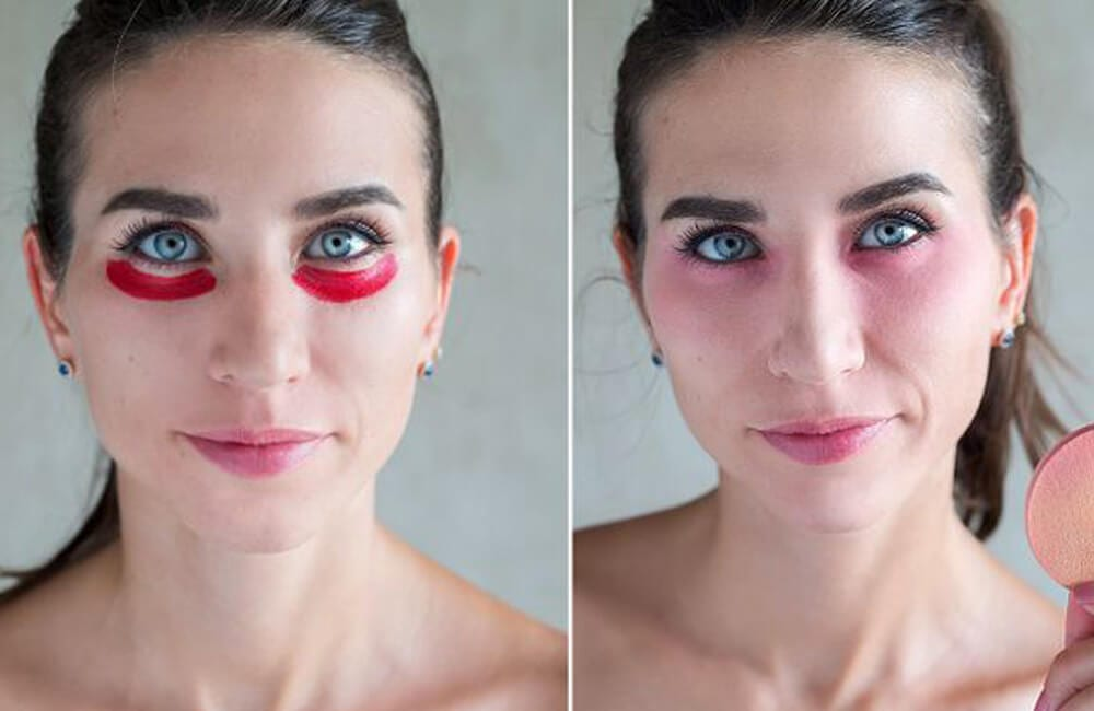Red Lipstick for Eye Bags @ 5minutecraftsfamily / Pinterest.com