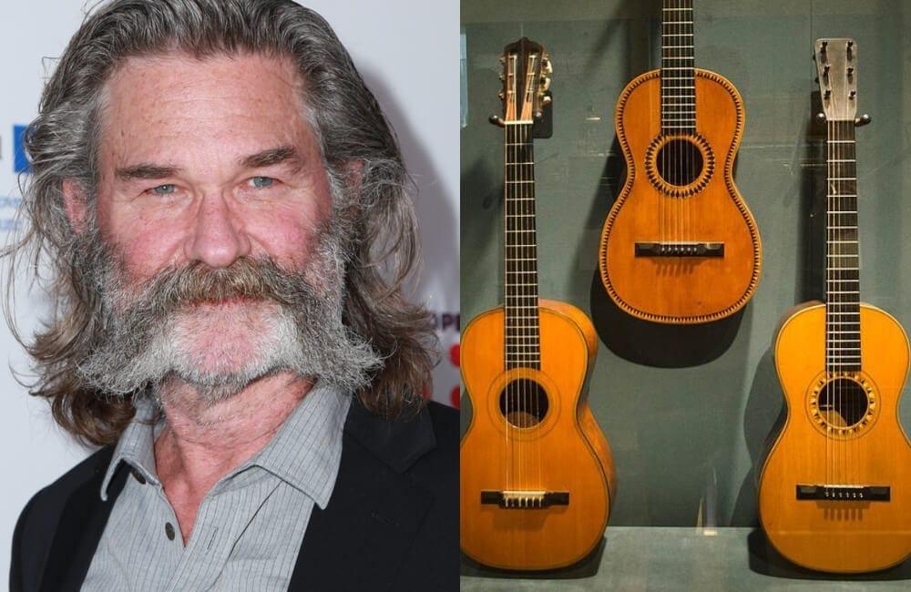 Kurt Russell Destroys a Rare, Priceless 1870s Guitar @Kathy Hutchins / Shutterstock.com |  @Randel Ball / Pinterest.com