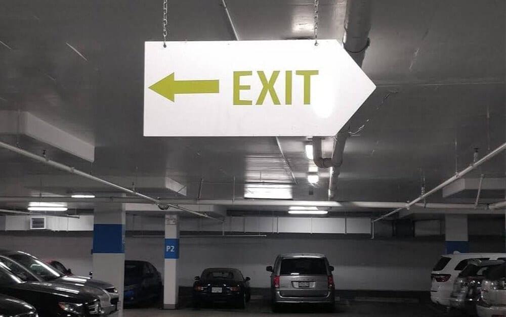 Exit Sign @ u / FerretFarm / Reddit.com