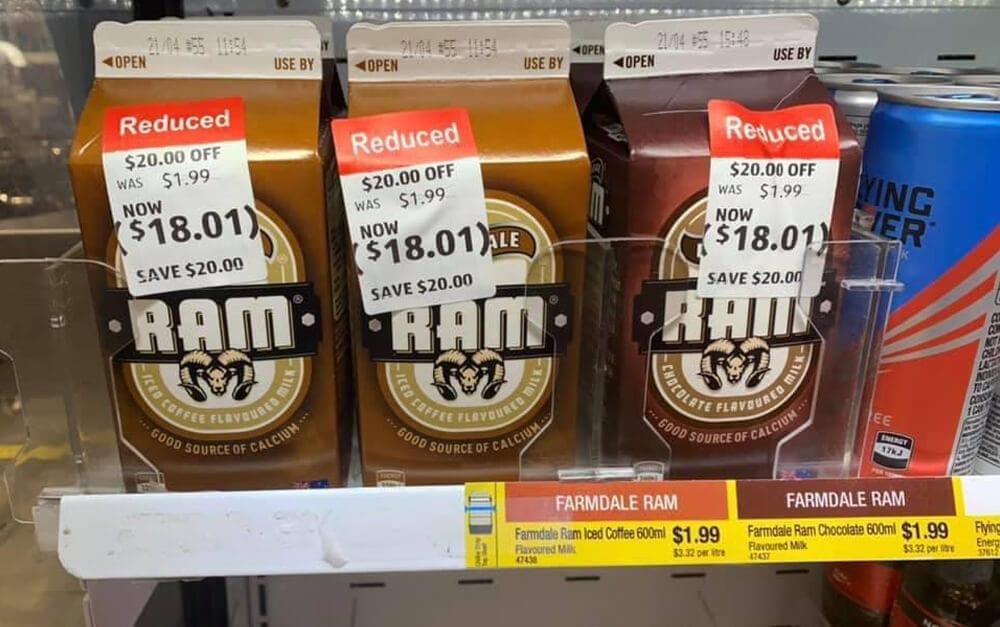 Milk on Sale @ u / Newbo91 / Reddit.com