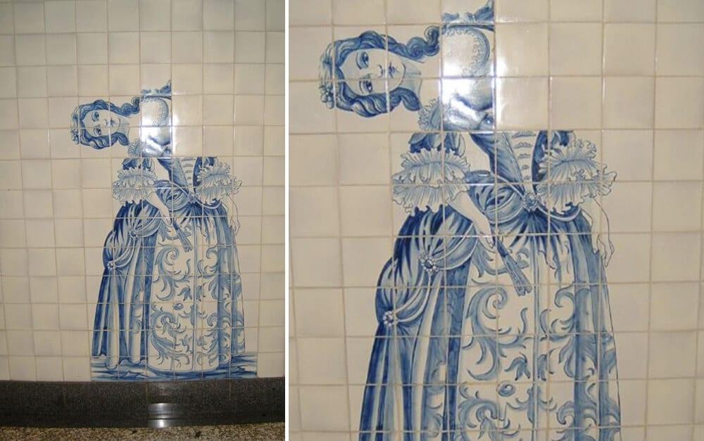 Subway Wall Lady @RecreoViral / Pinterest.com