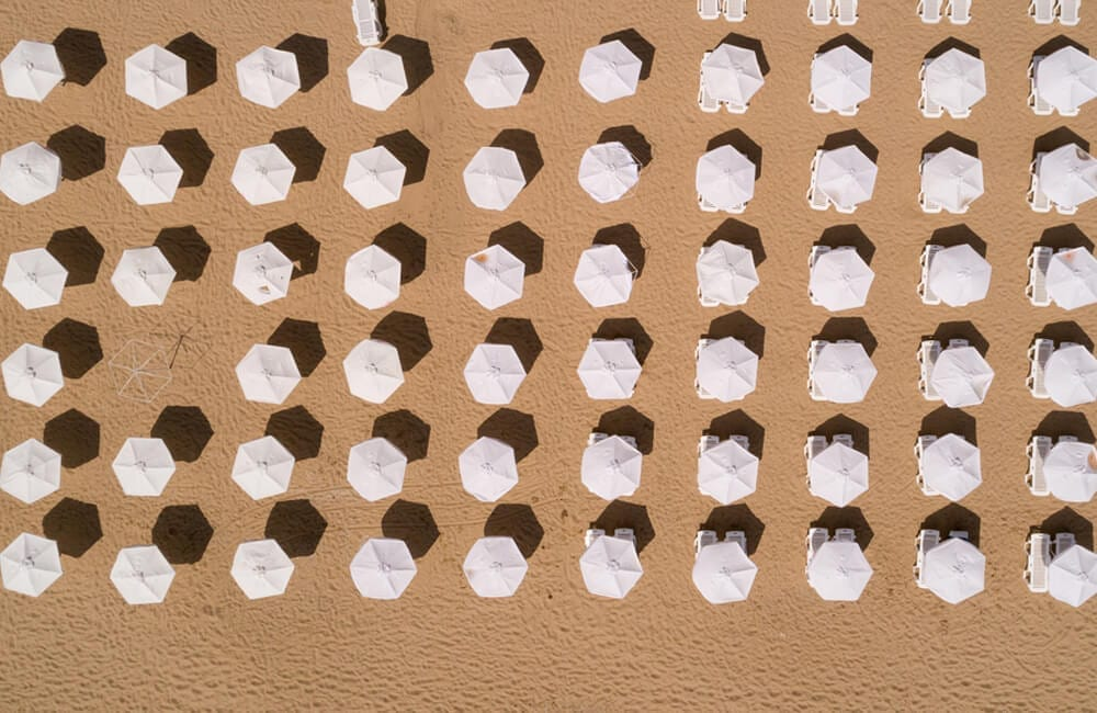 White Umbrellas © Michael Dechev / Shutterstock.com