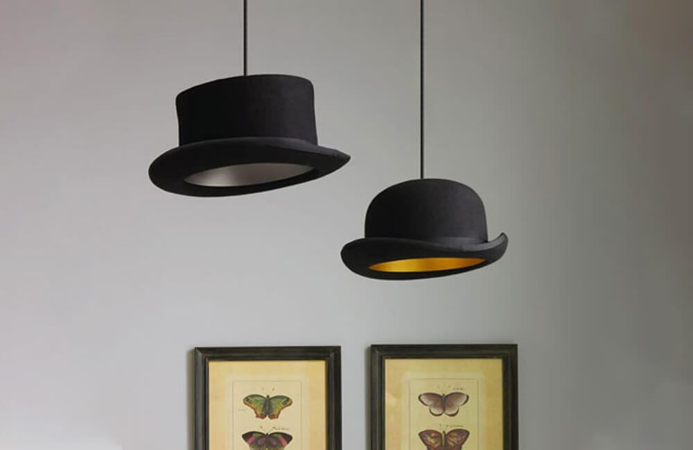 Bowlers Into Lamps @delswings / Pinterest.com