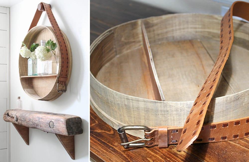 Cheese Box Into Shelf @cahuf / @hometalk / Pinterest.com