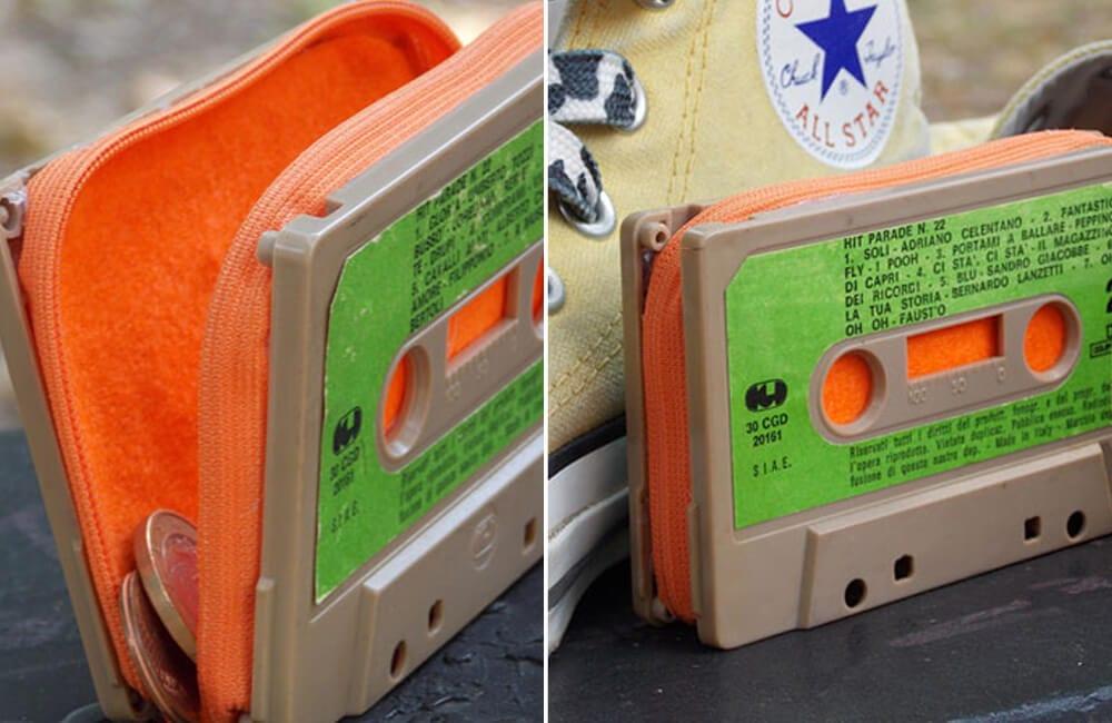 Old Cassette Tape Into Purse @boredpanda / Pinterest.com