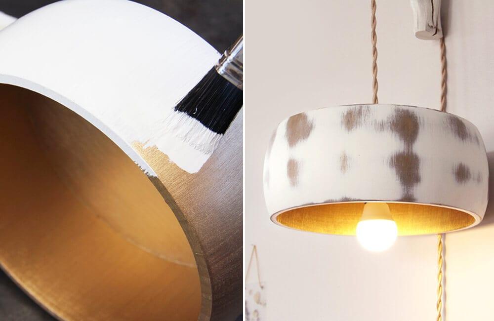 Wooden Bowl Into Lamp Shade @MakeItRustoleum / Pinterest.com