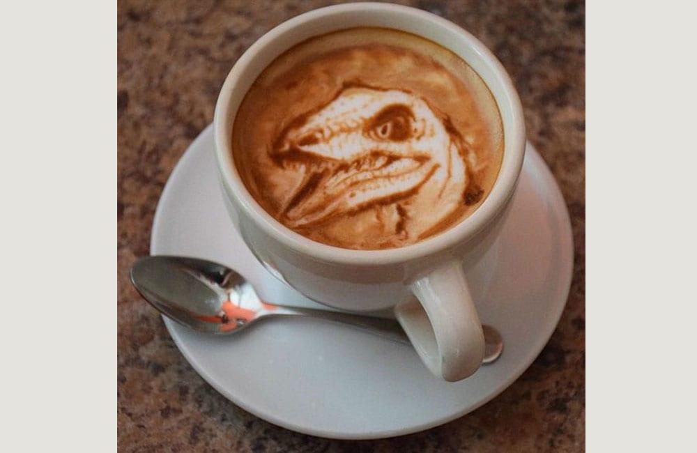 Coffee Foam Art Hack @ latteart0093 / Pinterest.com