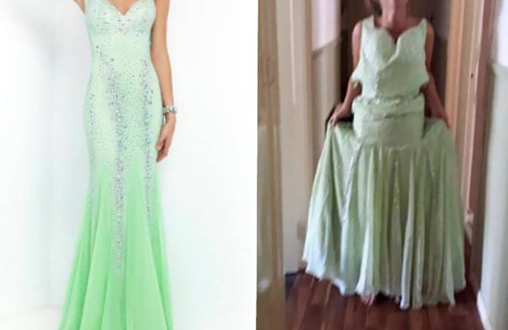 Green Ombré Gown @ toribrodiexo / Twitter.com