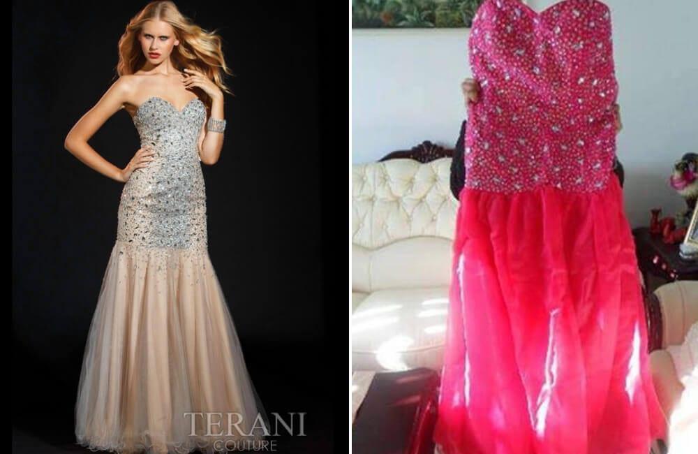 Pink Rhinestone Gown @ BridesBeware / Facebook.com