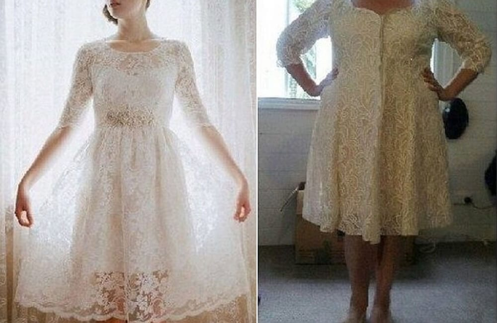 Lace Wedding Frock @Daily Mail / Pinterest.com