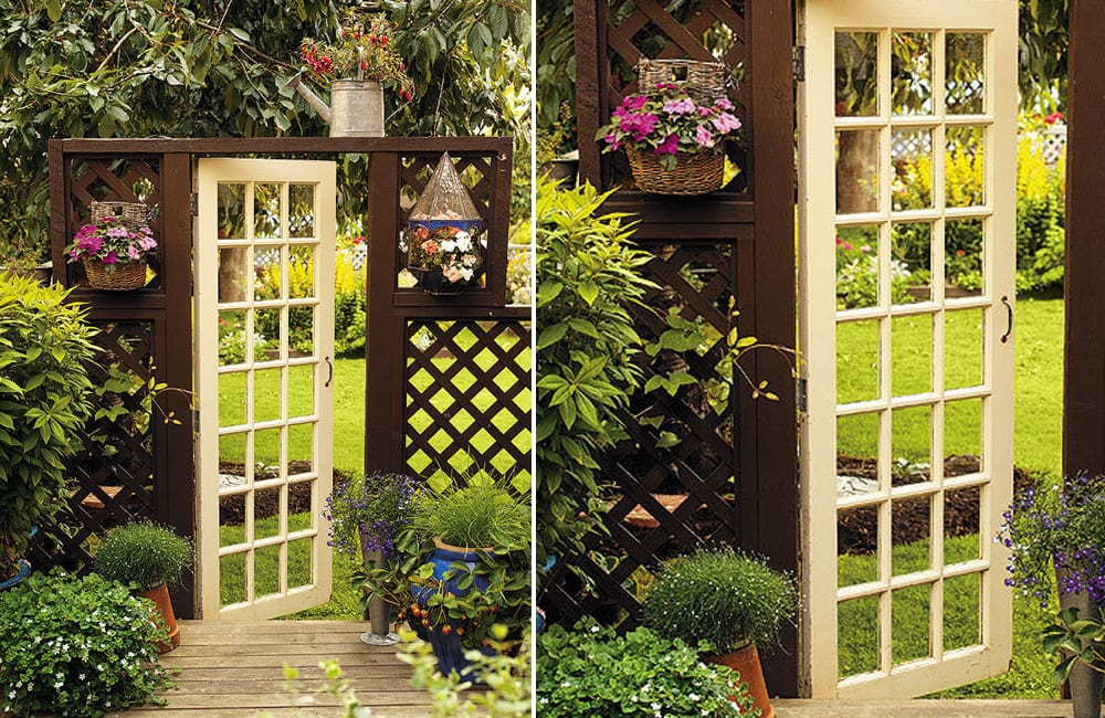 French Door Into Garden Gate @apeggio / Pinterest.com