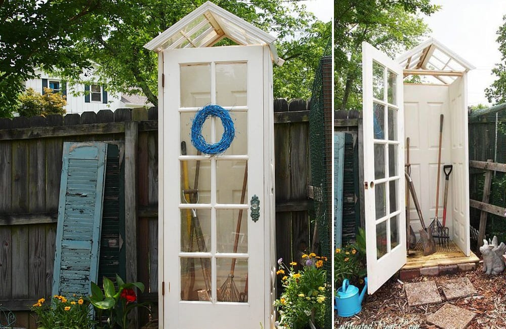 French Door Into Garden Shed @FreshPatio / Pinterest.com