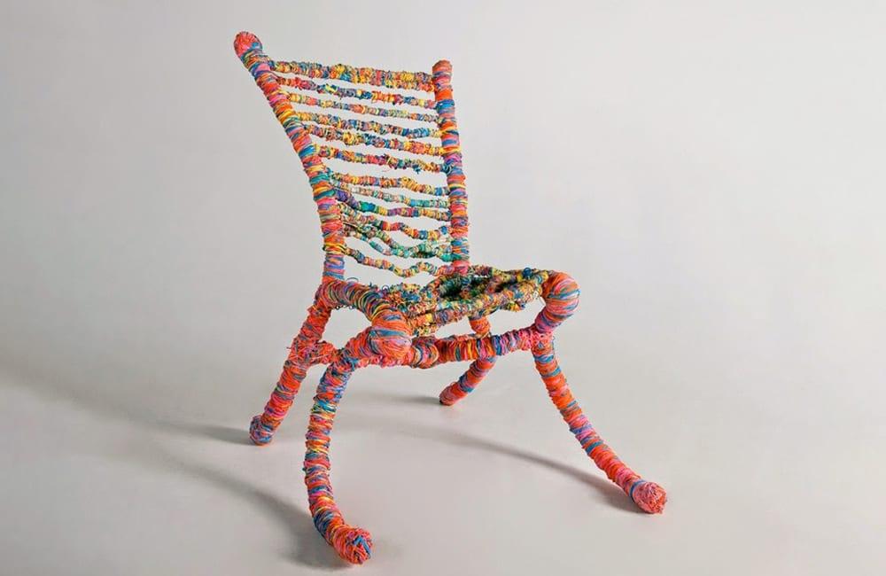Rubber Bands Into a Chair @federicocurti / Pinterest.com