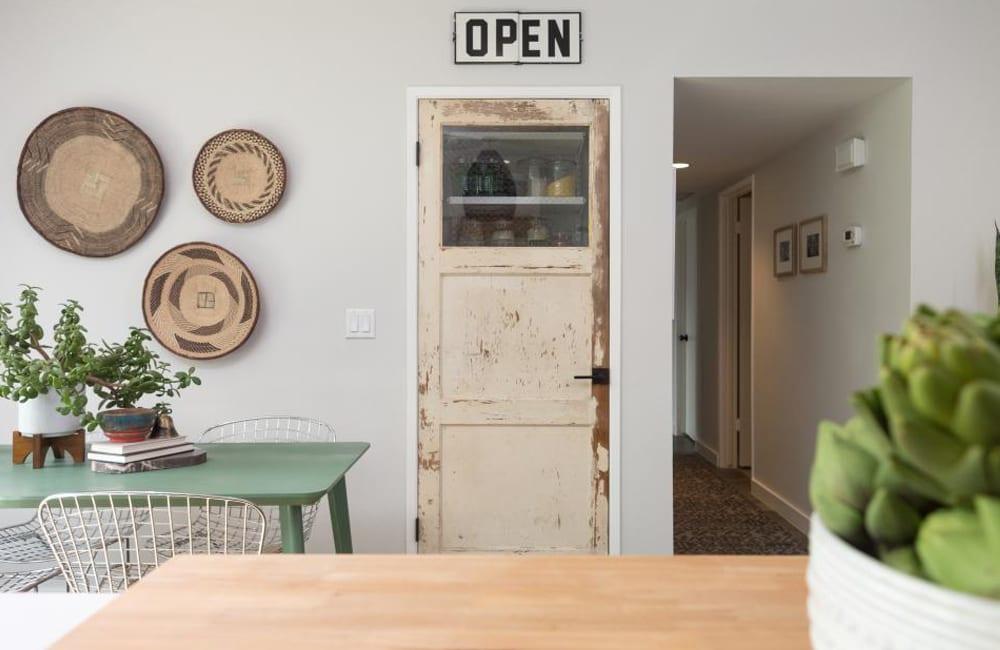 Salvaged Door Into Pantry Door1.  @hgtv / Pinterest.com