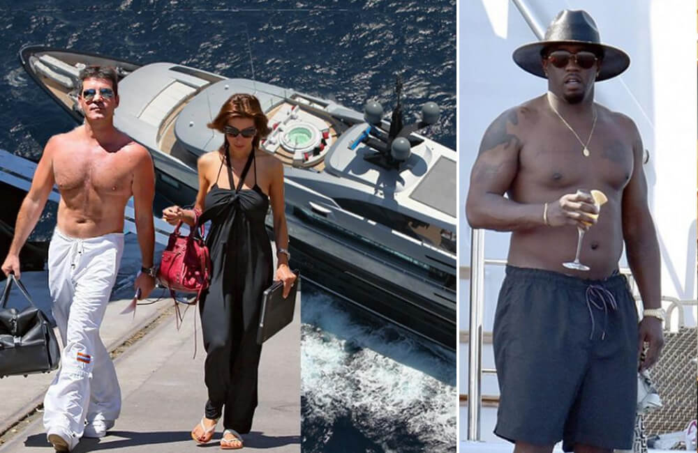 Simon Cowell, Sean Combs @SimplyStately / @kimkcentral | Twitter.com