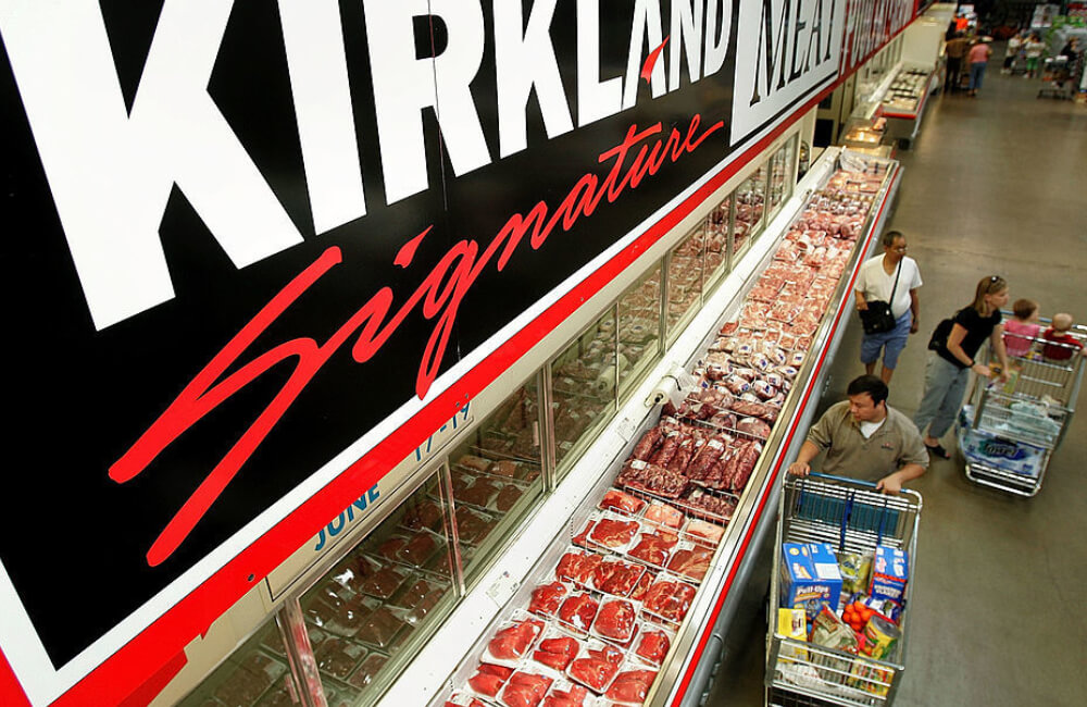 Kirkland Signature meat at a Costco store ©Tim Boyle/Getty Images