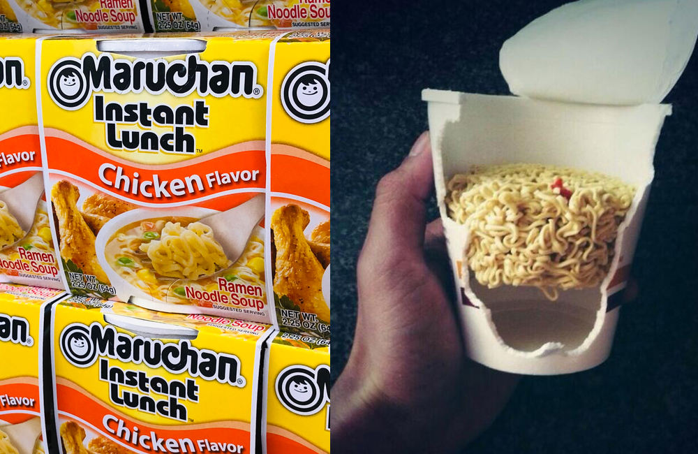 Maruchan Instant Noodles ZikG / Shutterstock.com | @UberFacts / Twitter.com