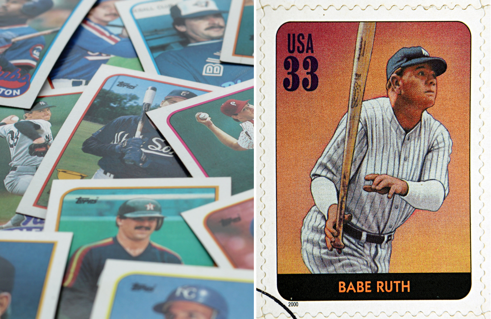 Baseball Cards © Abigail McCann / Babe Ruth Card © neftali | Shutterstock.com