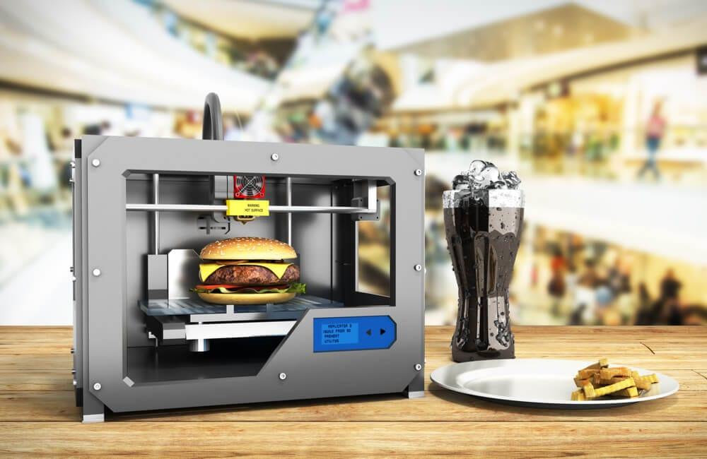 3D printer burger concept ©NosorogUA/Shutterstock.com