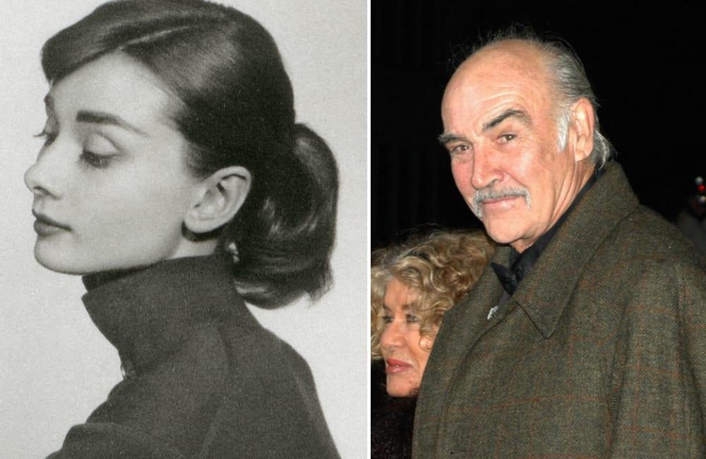 Audrey Hepburn @Olga Popova / Sean Connery © 360b | Shutterstock.com