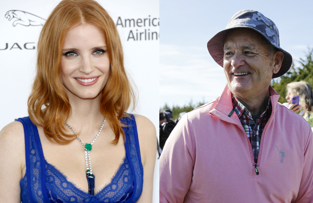 Jessica Chastain @Tinseltown / Shutterstock.com Bill Murray @Michael Reaves / Getty Images