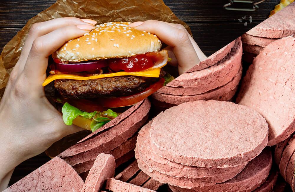 Frozen Burger, @Chatham172/Shutterstock / Fresh Burger, @Fedorovacz/Shutterstock