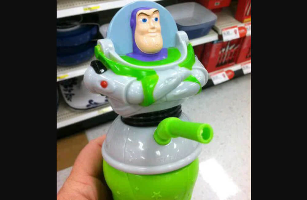 My hedgehog is really foxing me  Article-Image-ProductDesignFails-Buzz-Lightyear-Drinking-Cup