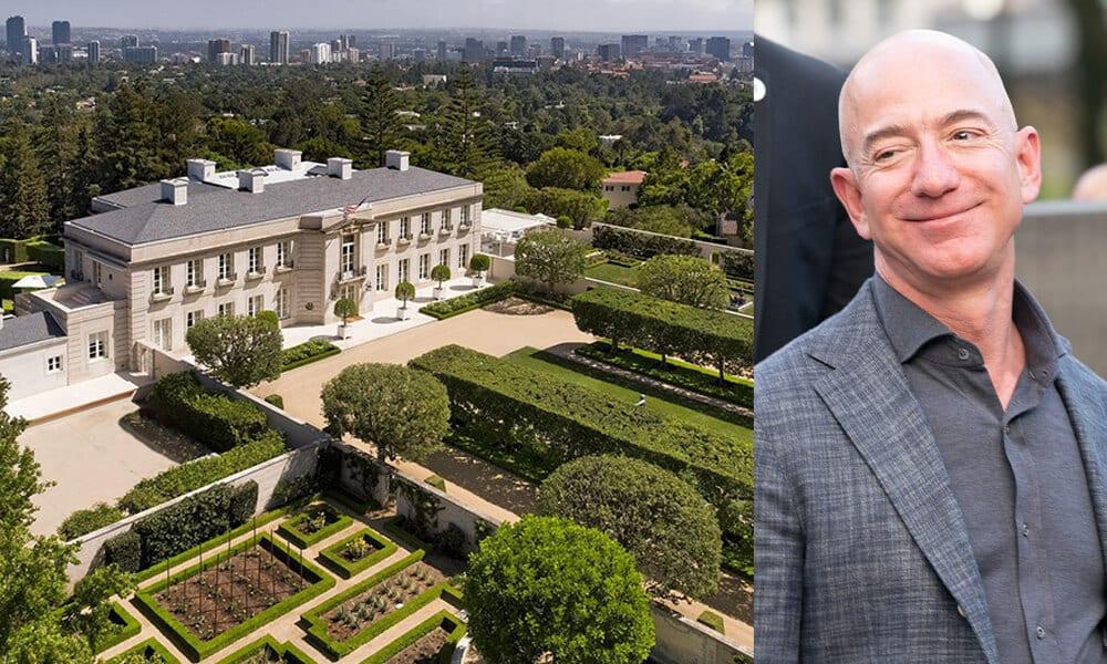Jeff Bezos @lev radin / Shutterstock.com | LA Home @latimes / Twitter.com