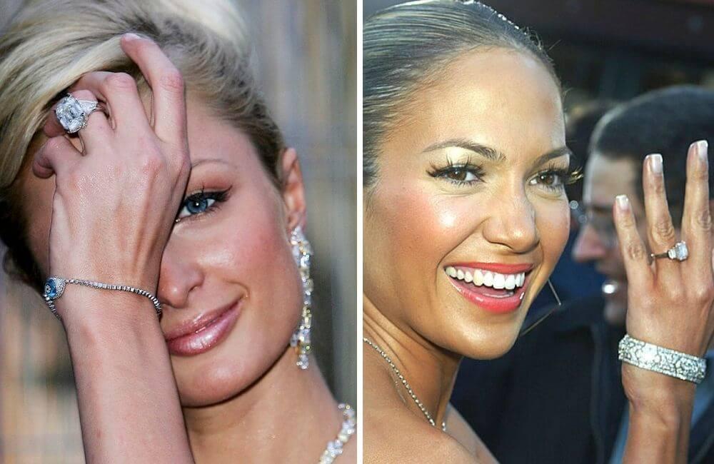 Paris Hilton ©MJ Kim/Getty Images | Jennifer Lopez ©Kevin Winter/Getty Images