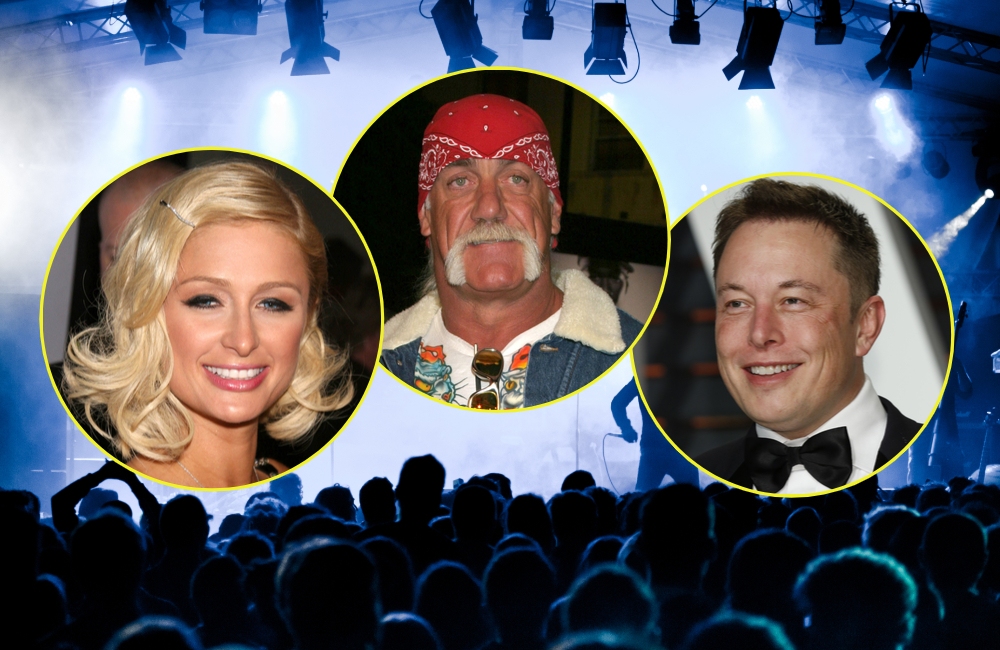 Paris Hilton, Hulk Hogan, Elon Musk © pcruciatti, Kathy Hutchins, carrie-nelson, s_bukley | Shutterstock.com